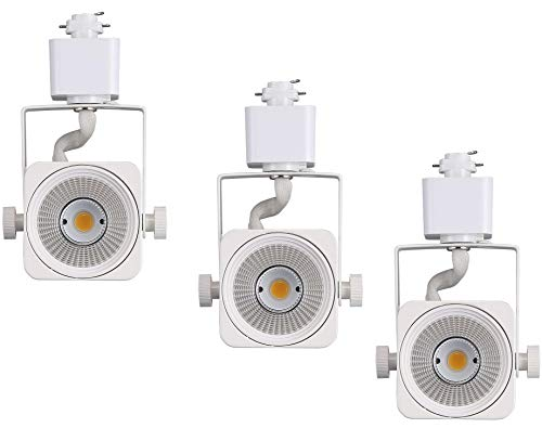 - Cloudy Bay LED Track Light Head,CRI90+ Warm White 3000K Dimmable,Adjustable Tilt Angle Track Lighting Fixture,8W 40° Angle for Accent Retail,White Finish,Halo Type- 3 Pack