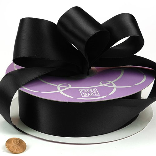 Black Double Face Satin Ribbon, 1-1/2