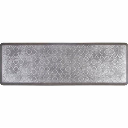 WellnessMats Estates Collection Essential Series Slate Trellis 6 x 2 Foot Anti-Fatigue Mat