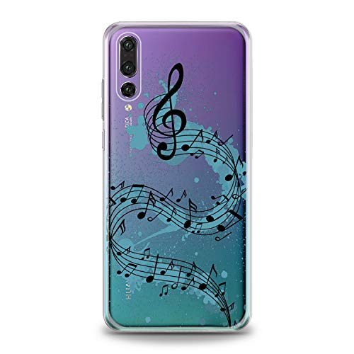 Lex Altern TPU Case for Huawei P30 Pro P20 Lite P10 P9 Plus Mate 20 Watercolor Melody Design Flexible Music Soft Art Slim fit Print Melody Clear Treble Clef Smooth Gift Staff Lightweight Cover Song]()
