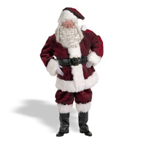 Halco Majestic Santa Suit (Size 58-62) Costume 58-62 Red ()