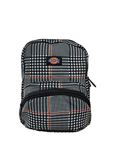 (Dickies Plaid Mini Backpack Black Glen Plaid & Knit Cap Bundle)