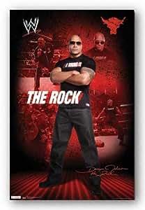 (22x34) The Rock WWE Sports Poster Print