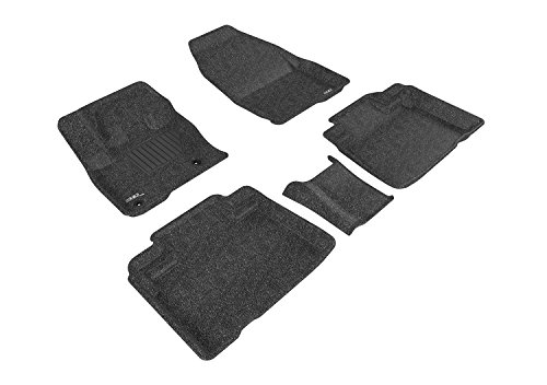 3D MAXpidder Complete Set Custom Fit All-Weather Floor Mat for Select Ford Edge Models - Classic Carpet (Black)