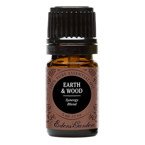 Edens Garden Earth & Wood 5 ml 100% Pure Therapeutic Grade GC/MS Tested (Cedarwood Himalayan, Patchouli, Cedarwood Texas, Vetiver, Vanilla) ()