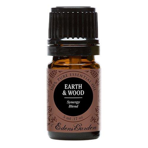 Edens Garden Earth & Wood 5 ml 100% Pure Therapeutic Grade GC/MS Tested (Cedarwood Himalayan, Patchouli, Cedarwood Texas, Vetiver, Vanilla)