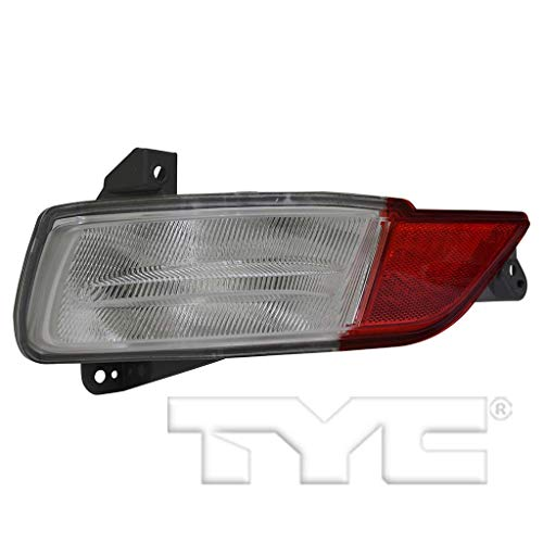 CarLights360: Fits 2016 2017 2018 Honda Pilot Tail Light Back Up Assembly Driver Side (Left) CAPA Certified w/Bulbs - Replacement for HO2882100