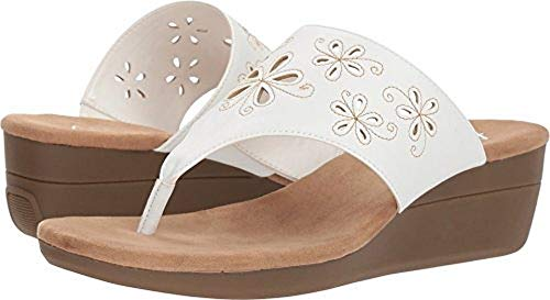 AIR Flow Wedge Sandal, White, 7 M US ()
