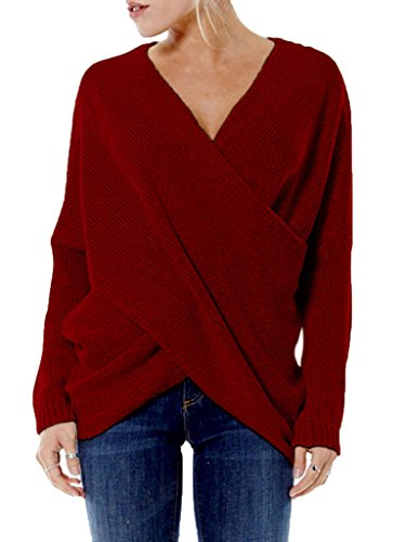 PERSUN Womens Fashion V neck Sleeve
