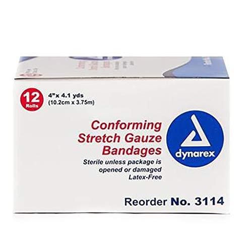 Stretch Non Gauze Sterile Bandage (Dynarex Stretch Gauze Bandages, Sterile, 4