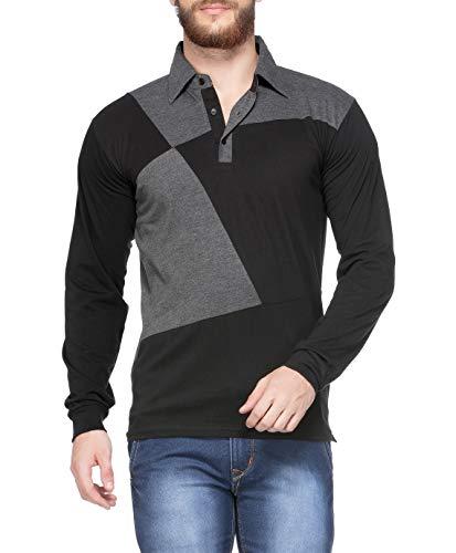 V3Squared Men's Cotton Full Sleeve Polo T-Shirt.
