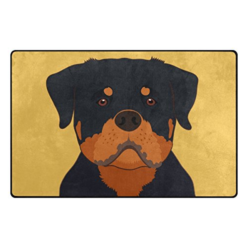 My Daily Rottweiler Dog Area Rug 20'' x 31'', Door Mat for Living Room Bedroom Kitchen Bathroom Decorative Unique Lightweight Printed Rugs by ALAZA