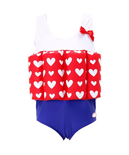 cf9137f048806 How Long to Read Zerlar Floatation Swimsuits with Adjustable Buoyancy for  1-10 years Baby Girls
