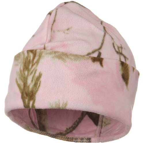 Light Weight Fleece Camo Watch Cap - Real Tree Pink OSFM