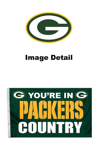 Green Bay Packers NFL Team Logo House Home Office Garage Street Outdoor Indoor Flag Banner with Grommets - 3' x 5' - YOU'RE IN PACKERS COUNTRY