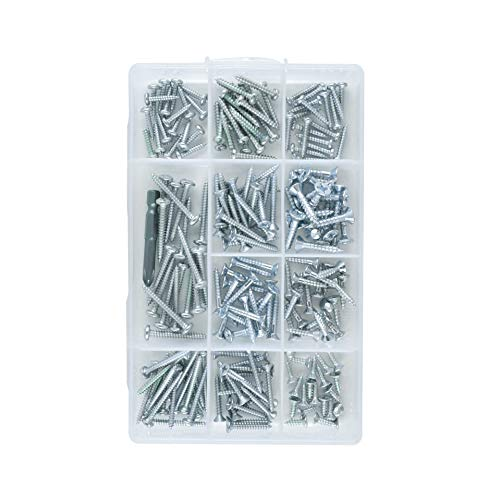 |Bonus| Window Wood Doors, Wall, Sheet Screws Assortment Kit M3 M4 M5 M6 Self Tapping Pan & Flat Screw Head | Stainless,TV Furniture Hanger Steel Metal Set | Phillips Drill Bit from Zenith Hardware