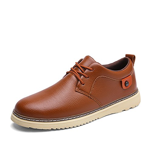 Men's Shoes Feifei Winter Fashion Casual Leather Shoes 4 Colors (Color : 03, Size : EU43/UK9/CN44)