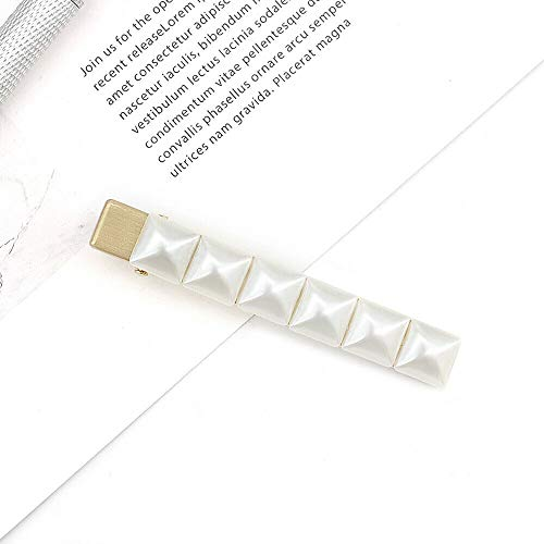 MOPOLIS Fashion Women Pearl Metal Barrette Hair Clip, used for sale  Delivered anywhere in USA