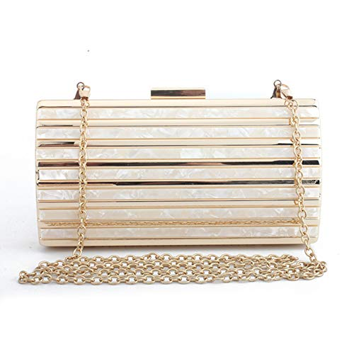 Acrylic For Apricot Prom With Pattern Chain Marble Party Handbags Womens Clutch Patch Gift dw7a8aq