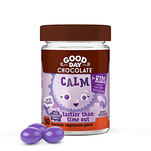 Good Day Chocolate Natural Calming Supplements for Kids Stress and Anxiety Relief (50 ()