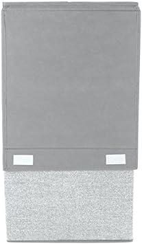 Cesta para ropa sucia con tapa Port/átil mDesign Cubo de ropa para lavado color gris Pl/ástico con asas Ideal como bolsa para guardar ropa durante viajes Cesto plegable para colada