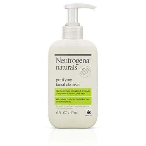 Neutrogena Naturals Purifying Daily Facial Cleanser with Natural Salicylic Acid from Willowbark Bionutrients, Hypoallergenic, Non-Comedogenic & Sulfate-, Paraben- & Phthalate-Free, 6 fl. oz