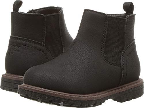 Oshkosh B'Gosh  Boys' Duran Zip up Combat Boot, Black, 7 M US Toddler ()
