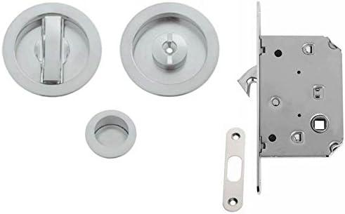 VI.Tel. e0262 N 51 Kit con Cerradura para Puertas correderas, Cromo Satinado: Amazon.es: Bricolaje y herramientas