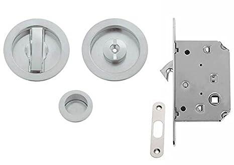 Tel. e0262 N 51 Kit con Cerradura para Puertas correderas, Cromo Satinado: Amazon.es: Bricolaje y herramientas