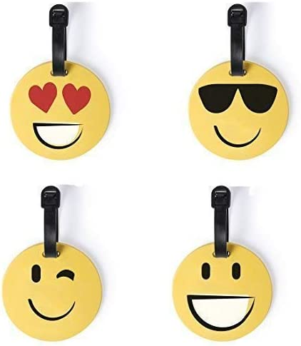 Subito Disponibile 4 Piezas Etiqueta Placa Maleta Equipaje Emoticono de Silicona