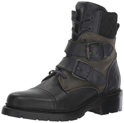FRYE Women's Samantha Belted Hiker Hiking Boot, Black/Multi, 9 M ()