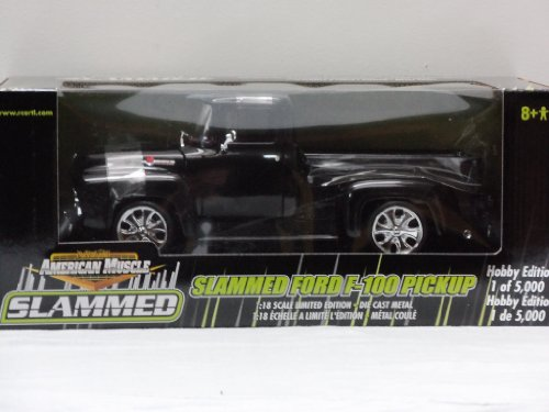 Slammed Ford F-150 Pickup 1:18 Scale Die Cast Truck - Black