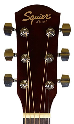 Fender Squier Dreadnought Acoustic Guitar - Sunburst Bundle with Fender Play Online Lessons, Gig Bag, Tuner, Strings, Strap, Picks, and Austin Bazaar Instructional DVD by Fender (Image #5)