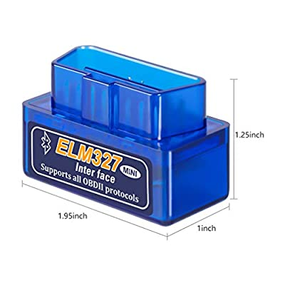 Elm327 Wireless Bluetooth OBD2 / OBDII Diagnostic Car Scanner & Reader Tool for Android Devices - Read/Clear Your Check Engine Light & Much More V1.5: Car Electronics