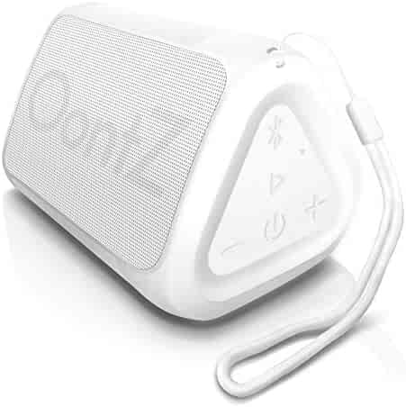 OontZ Angle Solo - Bluetooth Portable Speaker, Compact Size, Surprisingly Loud Volume & Bass, 100 Foot Wireless Range, IPX5, Perfect Travel Speaker, Bluetooth Speakers by Cambridge Sound Works (White)