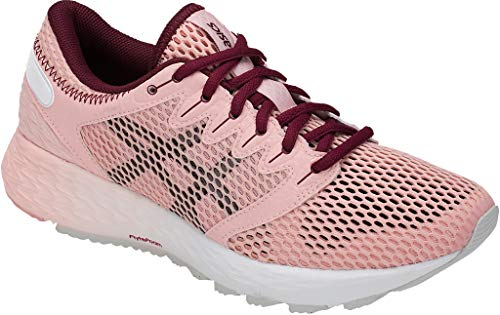 ASICS Women's Roadhawk FF 2 Running Shoe, Frosted Rose/Cordovan 6.5 M US
