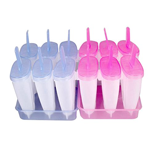 Tinksky 6 Cell Silicone Popsicle Random