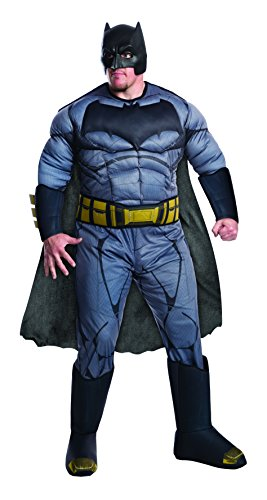 [Rubie's Men's Batman v Superman: Dawn of Justice Deluxe Batman Plus Size Costume, Black, One Size] (Plus Size Deluxe Superman Costumes)
