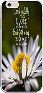 Iphone 6 Case Bible Verse,Topgraph Apple iPhone 6 (4.7) Hard Slim Case Christian Quotes Psalm 98:4 Shout Joyfully To The Lord All The Earth; Break Forth In Song Rejoice And Sing Praises