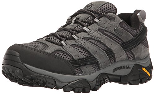 Merrell Men's Moab 2 Waterproof Hiking Shoe, Granite, 10.5 M