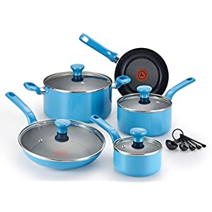 T-fal Excite Nonstick Dishwasher Safe/Oven Safe PFOA 14-Piece Free Cookware Set 41a6I 2Bue3CL