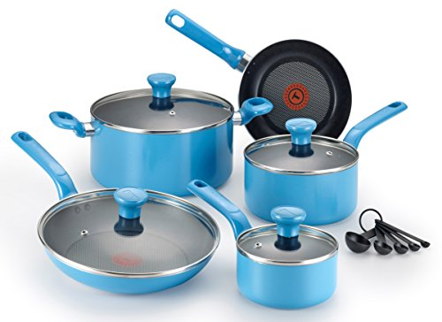 t fal cookware set blue - 1