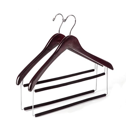 Quality Two Tone Wooden Hangers Velvet product image