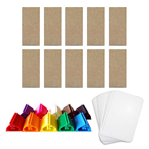 Custom Stand Up Game Pieces (Set of 10) and Blank Deck of Playing Cards - Make Your Own Board Game Add On Pack -
