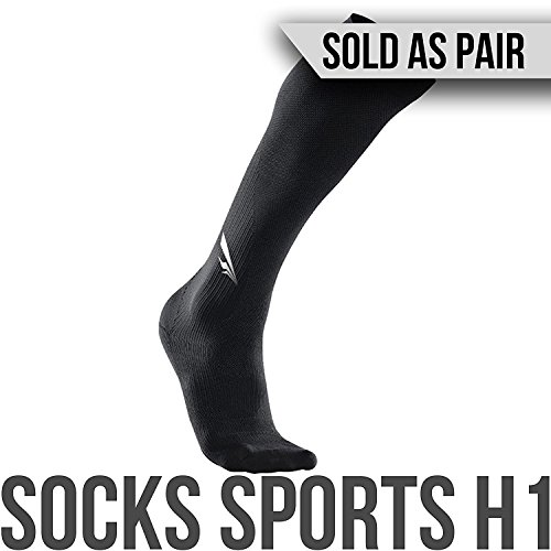 2nd Era Socks Sports H1 - Men & Women Compression Sports High Socks - For Elite Athletes: Running, Crossfit, Deadlifting, and Leg Protection & Recovery - Sold as Pair (Black, X-Large) Home Run Ticket