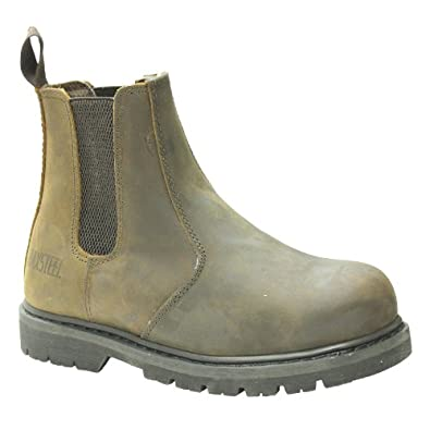MENS MAXSTEEL SLIP ON CHELSEA DEALER SAFETY BOOTS WORK BOOTS SHOES ...