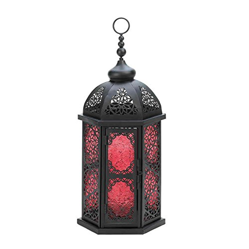 Paprika Red Tall Moroccan Candle Holder Lantern Lamp Moroccan Jewel