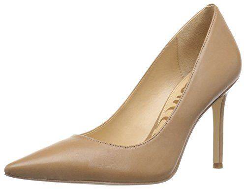 Sam Edelman Women's Hazel Dress Pump, Golden Caramel Leather, 8 M US (Leather Red Pumps Patent)