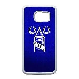 Generic hard plastic Everton FC logo Cell Phone Case for Samsung Galaxy S6 Edge White ABC8362804