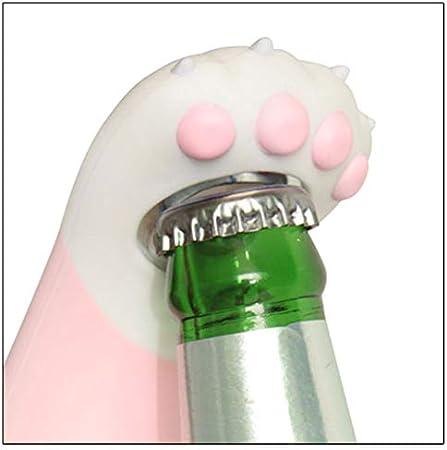 Sacacorchos 2 piezas portátil creativo forma de huella de gato abridor de botellas color al azar